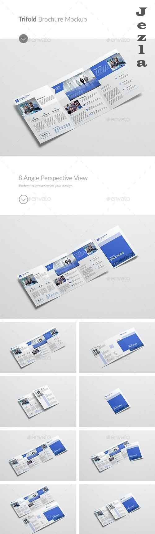 A4/A5 Trifold Brochure Mockup  - 28336237