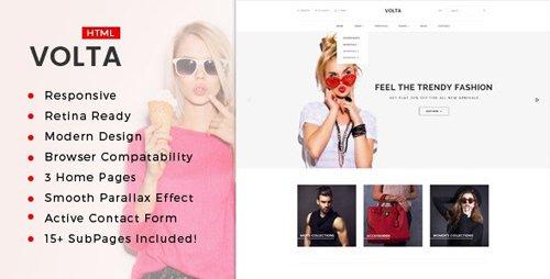 ThemeForest - Volta v1.0 - Minimal Shopping HTML5 Template - 17472485