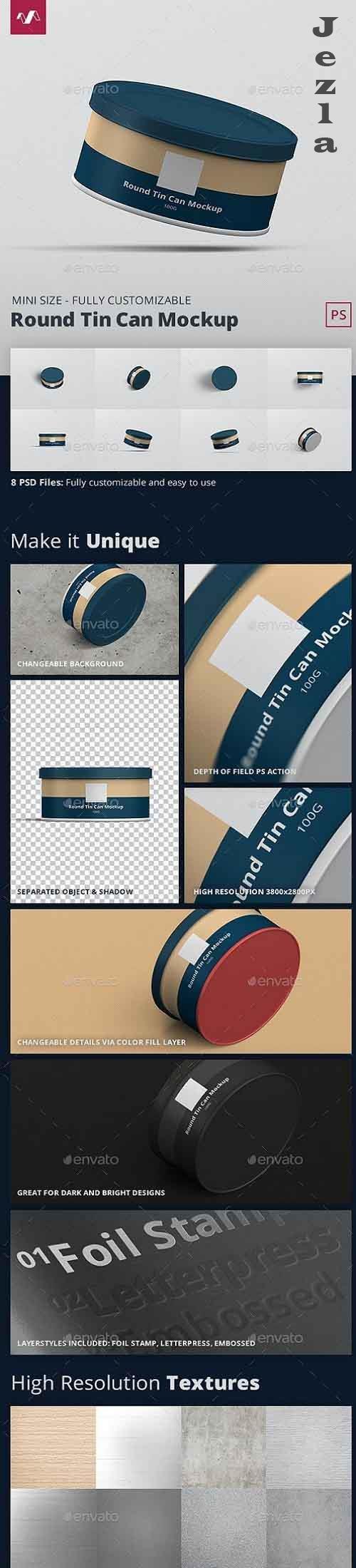 Tin Can Mockup Round Mini 28298525