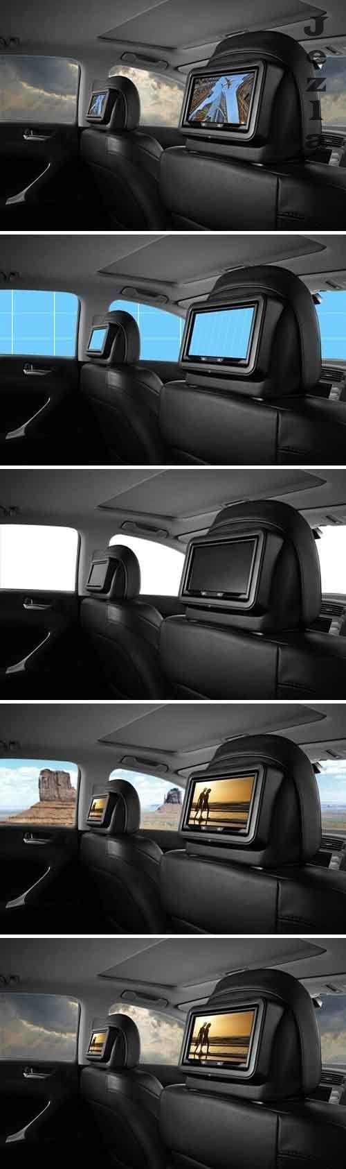 Leather interior-Car-Mockup - JVSM87A