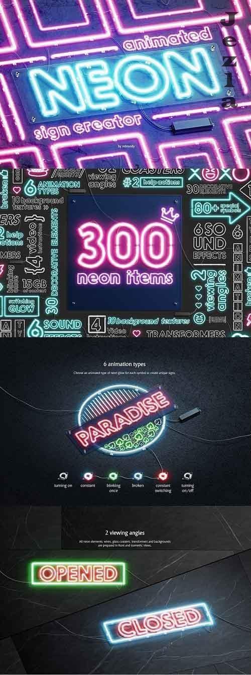 Neon Animated Sign Creator 5338598