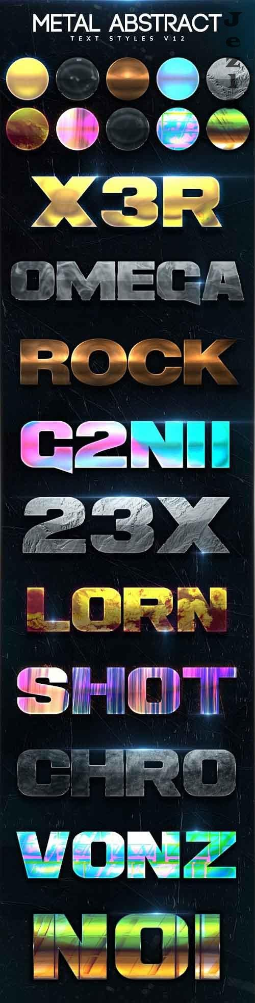 Metal Abstract Text Styles V12 27368604