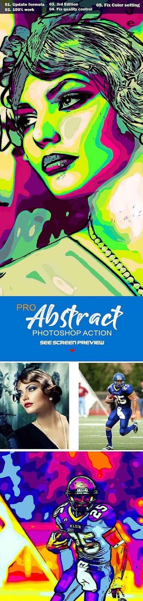 Pro Abstract Photoshop Action 27540213