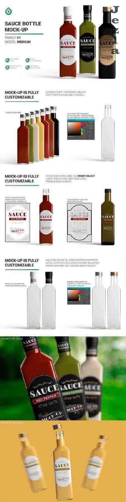 Sauce Bottle Mockup 4834491