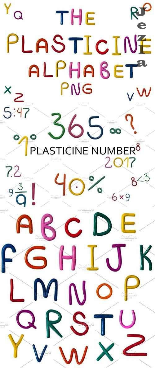 Plasticine ABC. Aphlabet & Numbers - 1246628