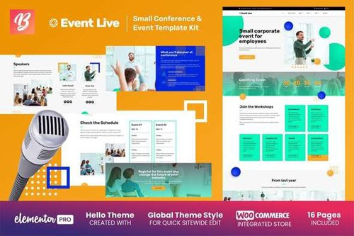 ThemeForest - EventLive v1.0 - Small Conference & Event Template Kit - 28397980