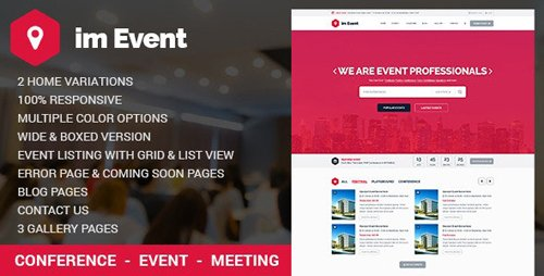 ThemeForest - Im Event v1.0 - Event Management HTML Template with RTL version (Update: 15 April 16) - 12621229