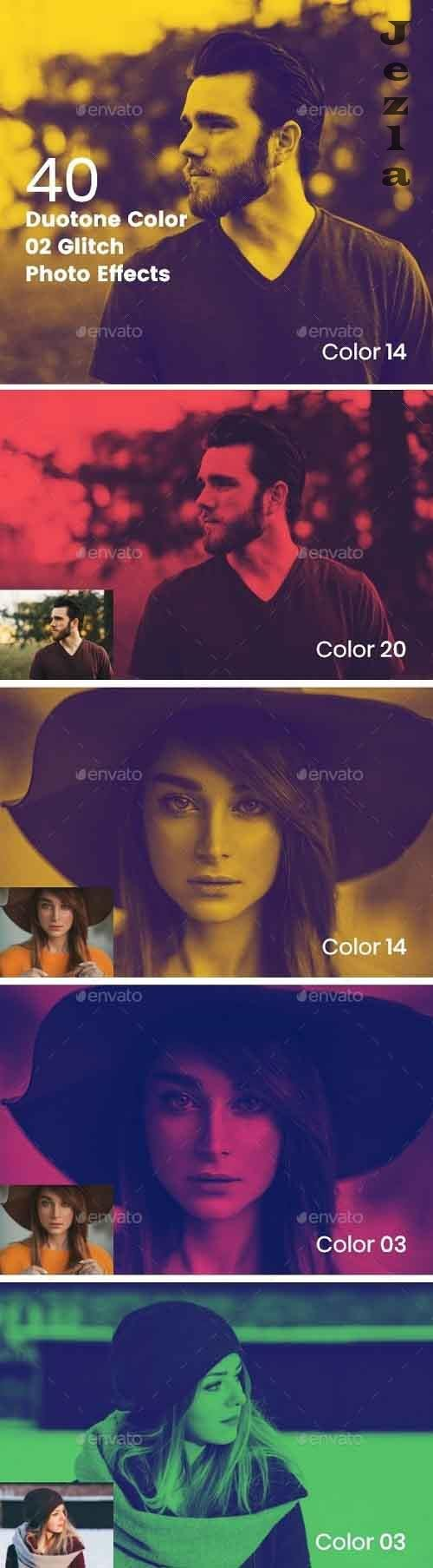 Duotone Color Effects Photo Template 27693687