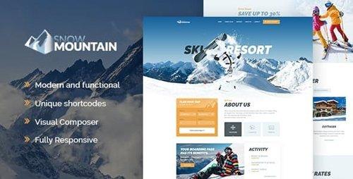 ThemeForest - Snow Mountain v1.2.3 - Ski Resort & Snowboard School WordPress Theme - 20631645