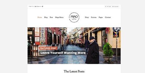 ThemeForest - Miao v1.1.2 - Fashion Magazine, News & Blog WordPress Theme - 11170534