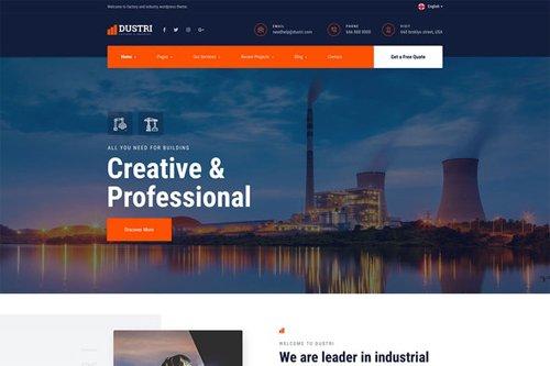 ThemeForest - Dustri v1.0 - Factory Industrial Template Kit - 28428748