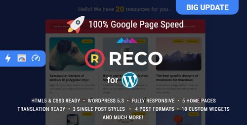 ThemeForest - Reco v4.5.5 - Minimal Theme for Freebies - 22300581 - NULLED