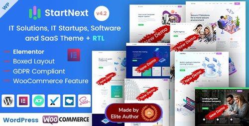 ThemeForest - StartNext v4.2 - Elementor IT & Business Startups WP Theme - 23715707 - NULLED