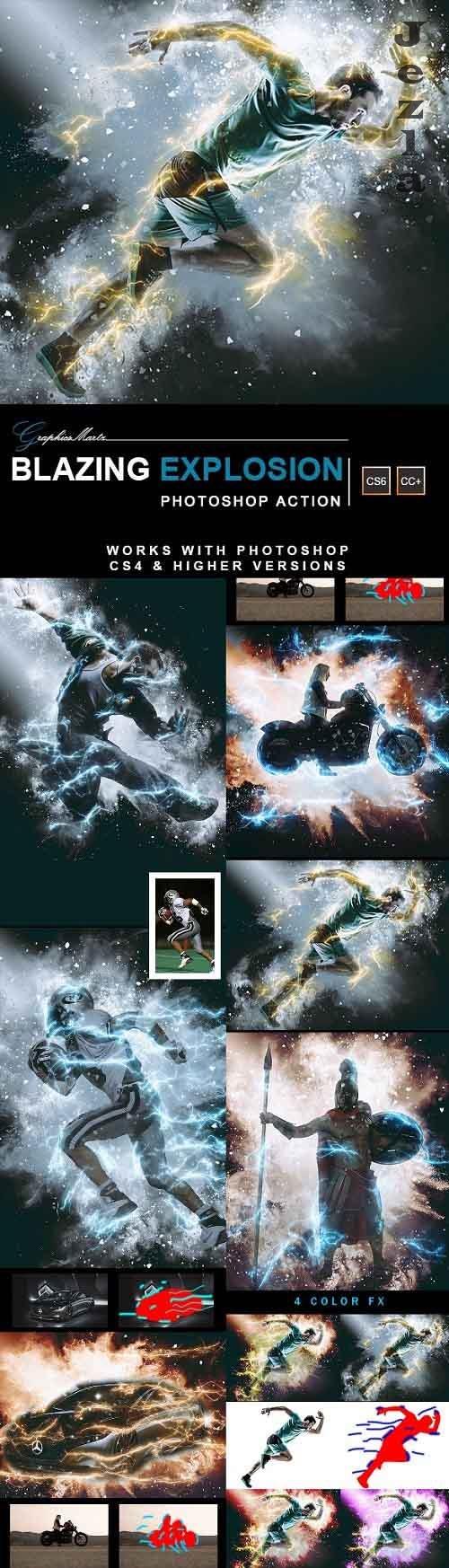Blazing Explosion Photoshop Action 28269901