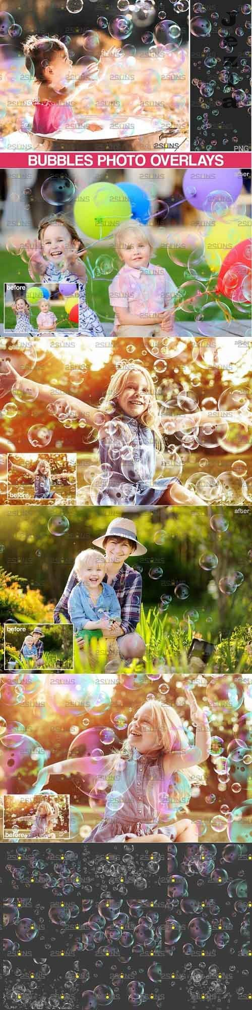 30 Photoshop overlay Bubble overlays, Soap bubbles - 895343