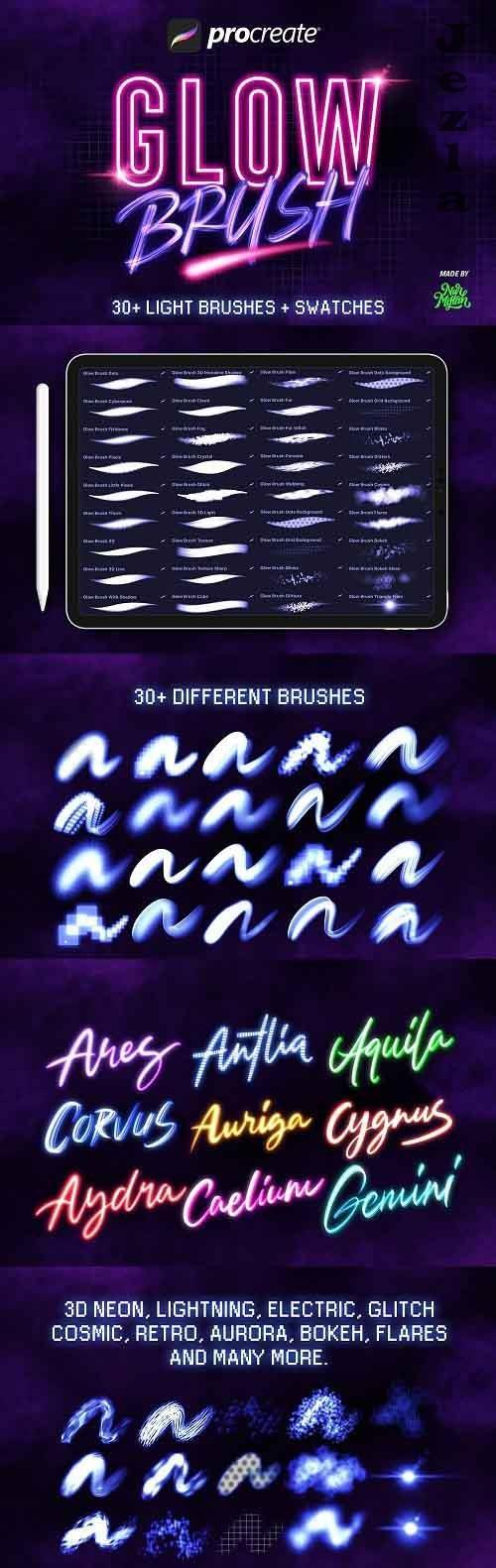 30+ Procreate Glow Brushes - 5386220