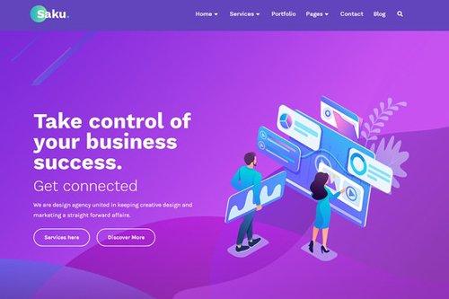 ThemeForest - Saku v1.0 - Business Agency Elementor Template Kit - 28428365