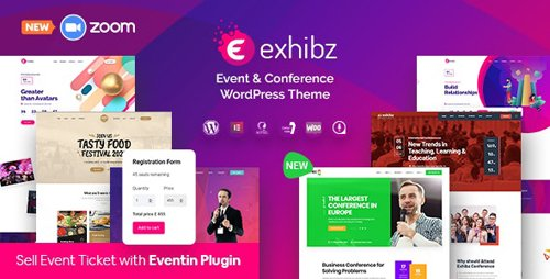 ThemeForest - Exhibz v2.2.6 - Event Conference WordPress Theme - 23152909