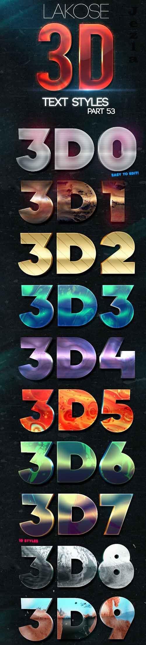 Lakose 3D Text Styles Part 53 27610685