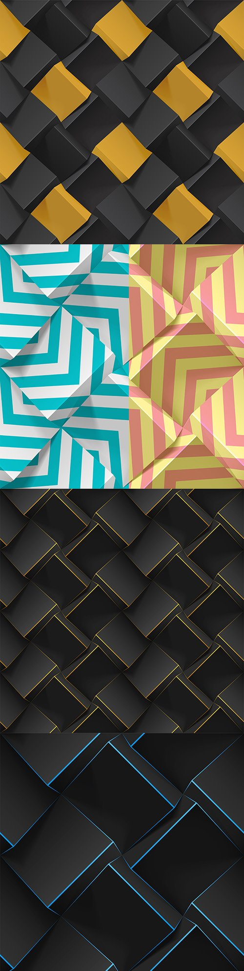 3D abstract texture with cubes realistic geometric pattern