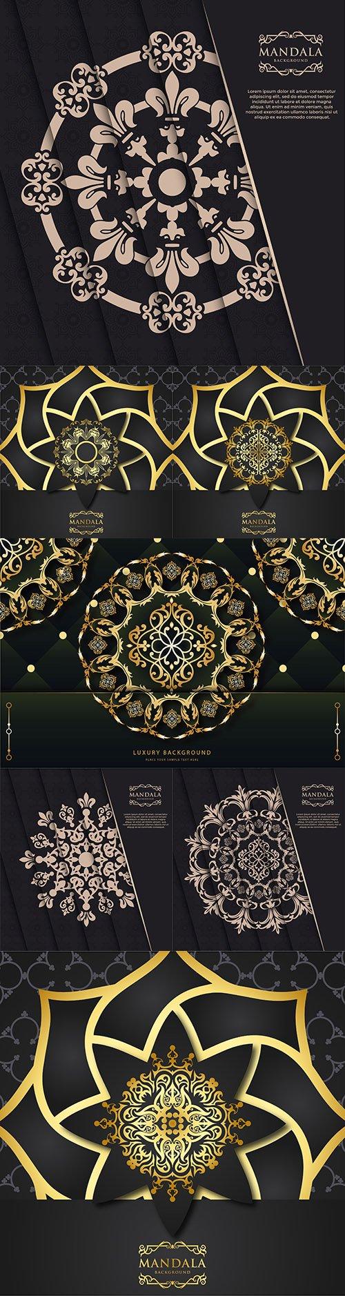 Luxury mandala decorative ornament design gold