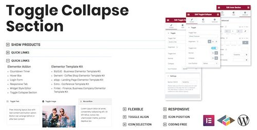CodeCanyon - Toggle Collapse Section Elementor Addon v1.0.0 - 28512293