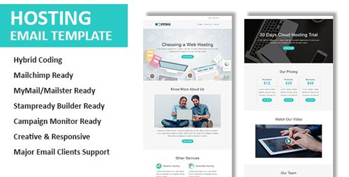 ThemeForest - Hosting v1.0 - Multipurpose Responsive Email Template with Online StampReady & Mailchimp Editors - 23442787