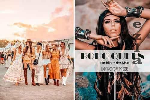 Boho Queen Lightroom Presets | Desktop & Mobile - 897774