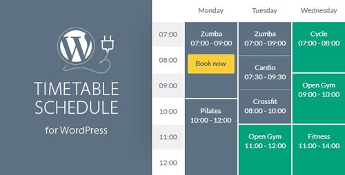 CodeCanyon - Timetable Responsive Schedule For WordPress v6.3 - 7010836