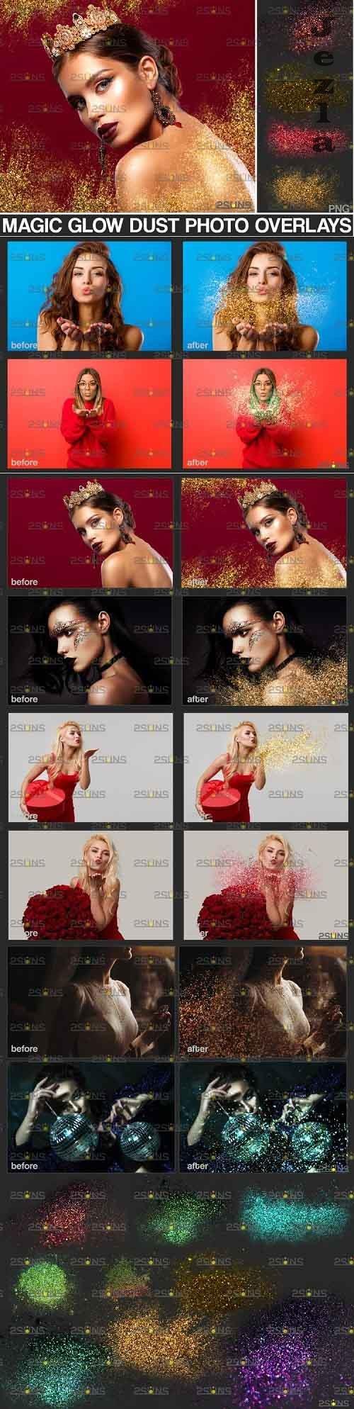 Blowing glitter overlay & PHSP overlay - 895349