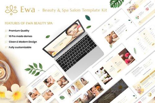 ThemeForest - Ewa v1.0 - Beauty & Spa Salon Elementor Template Kit - 28430655
