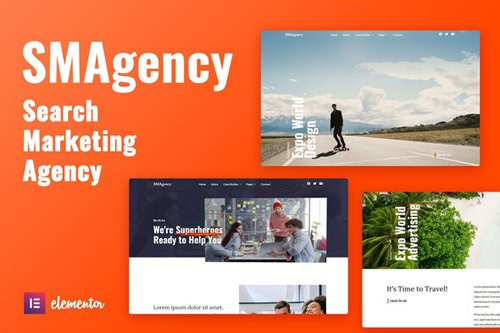 ThemeForest - SMAgency v1.0 - SEO Marketing Agency Elementor Template Kit - 28469913