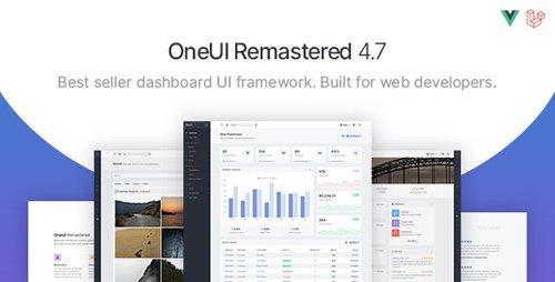 ThemeForest - OneUI v4.7.0 - Bootstrap 4 Admin Dashboard Template, Vuejs & Laravel 7 Starter Kit - 11820082