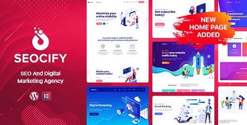 ThemeForest - Seocify v2.3 - SEO Digital Marketing Agency WordPress Theme - 22613339