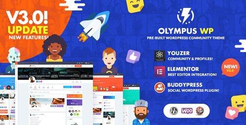 ThemeForest - Olympus v3.6 - Social Networking WordPress Theme - 22788499