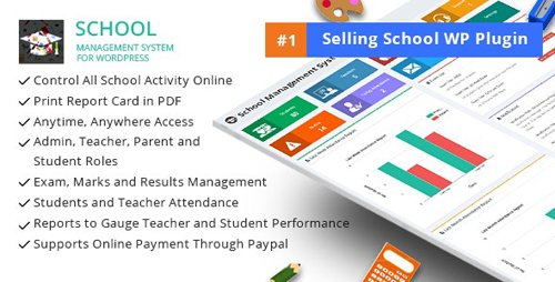 CodeCanyon - School Management System for Wordpress v66.0 - 11470032 - NULLED