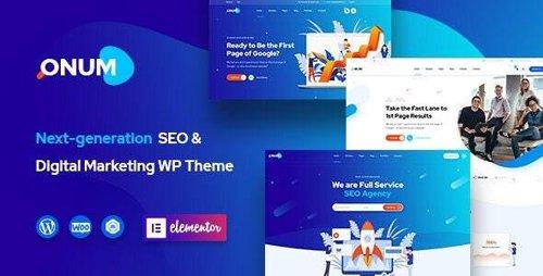 ThemeForest - Onum v1.1.9.3 - SEO & Marketing Elementor WordPress Theme - 25257938