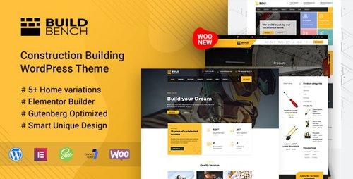 ThemeForest - Construction Building WordPress Theme - Buildbench v1.8 - 23577469