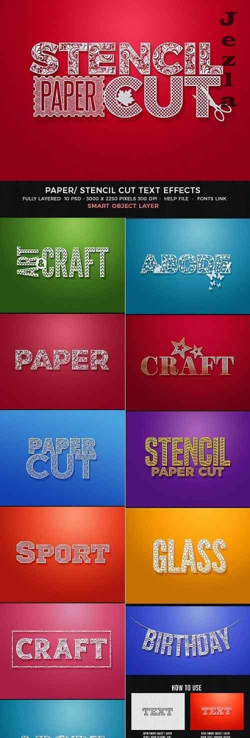 Paper Cut/Stencil Cut Text Effect - 28059651