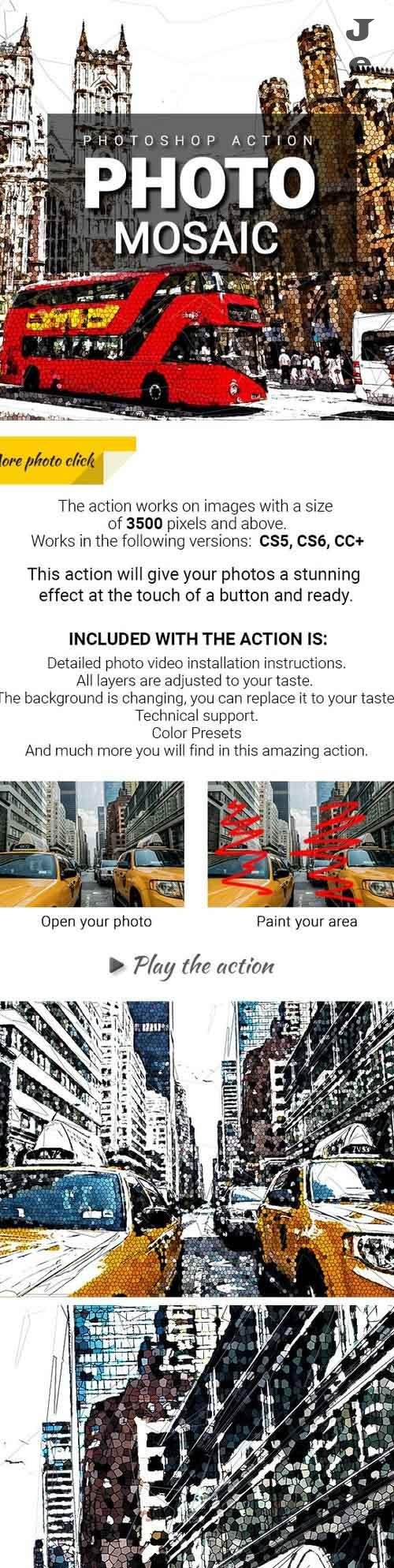 Photo Mosaic Photoshop Action 27986689