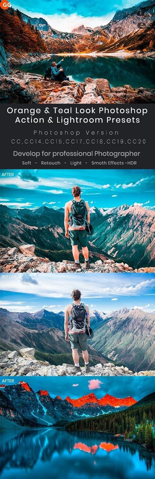 Orange & Teal Look Photoshop Action & Lightroom Presets 28205906