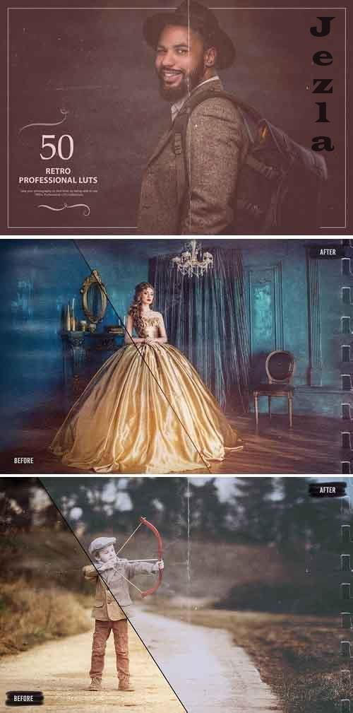 50 Retro LUTs (Look Up Tables) - 5376096