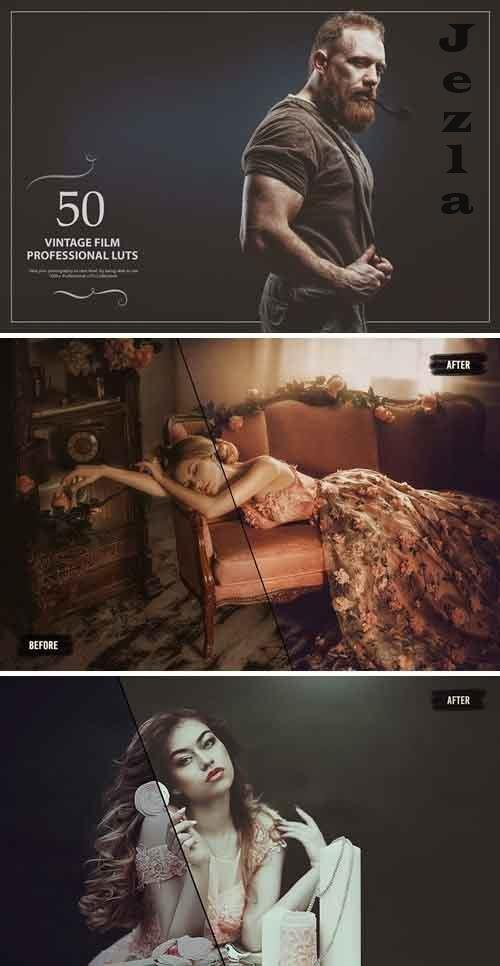 50 Vintage Film LUTs (Look Up Tables) - 5376114
