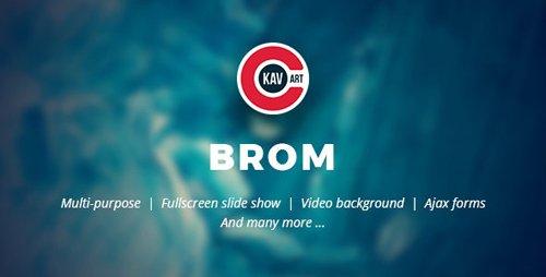 ThemeForest - Brom v1.1 - HTML Creative Page - 24710821