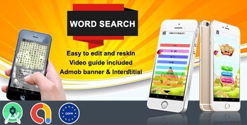 CodeCanyon - Word Search (Admob + GDPR + Android Studio) (Update: 26 August 20) - 26912003
