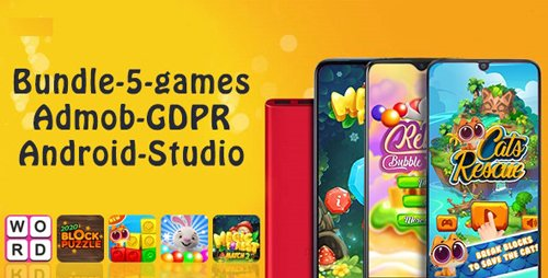 CodeCanyon - Bundle#1 , 5 Games (Admob + GDPR + Android Studio) v1.0 - 28452840