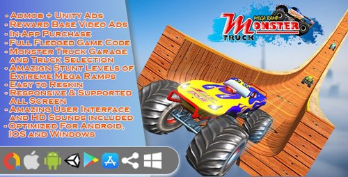 CodeCanyon - Monster Truck Stunt Game Unity 3d v1.0 - 28085319