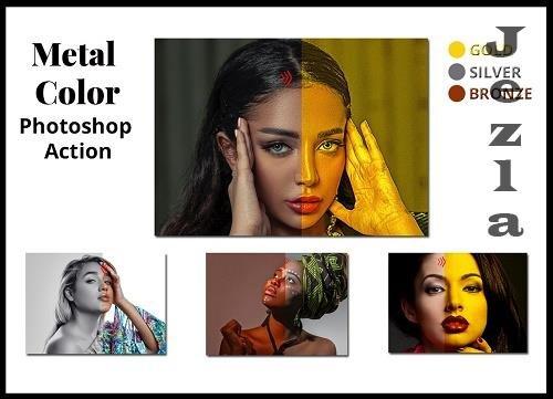 Metal Color Photoshop Action 4895415