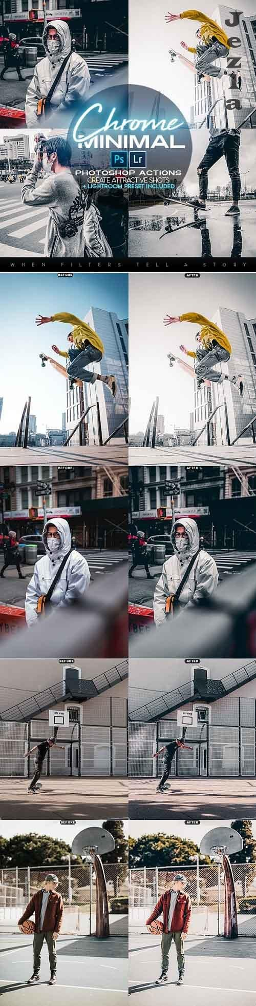 Chrome Minimal Photoshop Actions + LR Presets 28257313