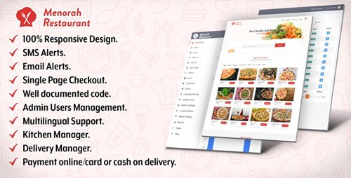 CodeCanyon - Menorah Restaurant v1.0.1 - Restaurant Food Ordering System - 23180351